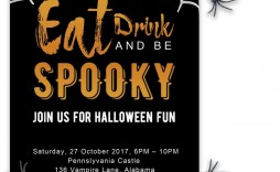 003 Stunning Halloween Party Invite Template Concept  Spooky Invitation Free Printable Birthday Download