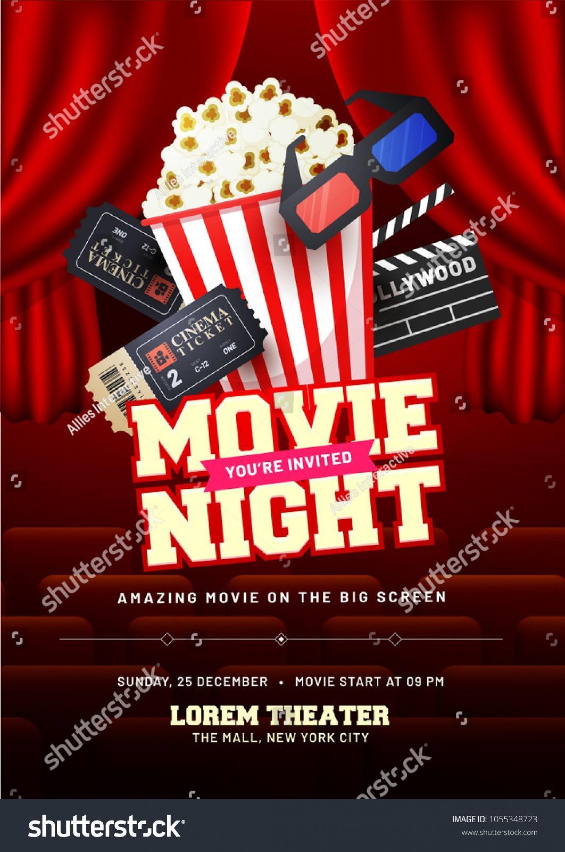003 Stunning Movie Night Flyer Template Design  Templates Free Microsoft Word1920