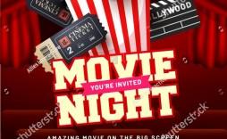003 Stunning Movie Night Flyer Template Design  Templates Free Microsoft Word