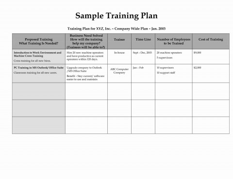 003 Stunning New Employee Training Plan Template Photo  Excel Free Download Program480