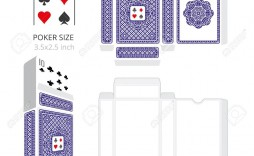 003 Stunning Playing Card Size Template High Definition  Game Standard
