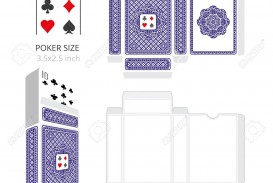 003 Stunning Playing Card Size Template High Definition  Standard Poker