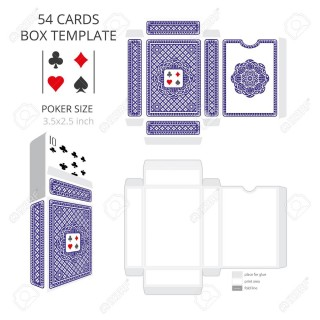 003 Stunning Playing Card Size Template High Definition  Standard Poker320