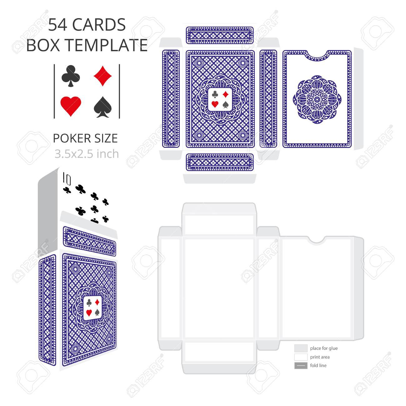 003 Stunning Playing Card Size Template High Definition  Standard PokerFull