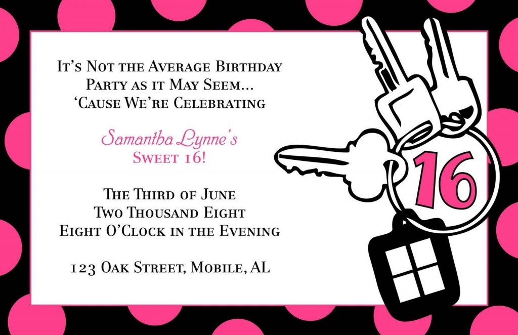 003 Stunning Sweet 16 Invite Template Highest Clarity  Templates Surprise Party Invitation Birthday Free 16thLarge