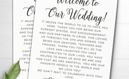 003 Stunning Wedding Welcome Letter Template Word Highest Clarity