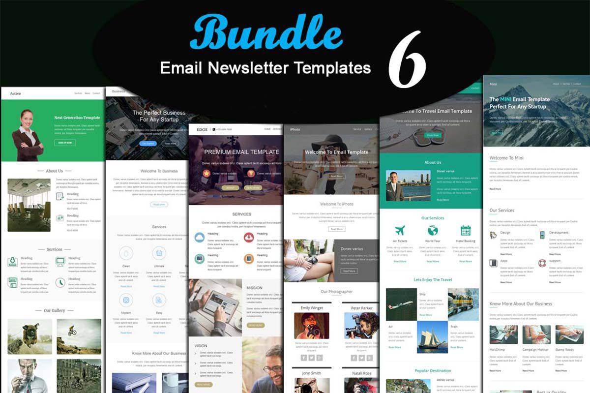 003 Stupendou Email Newsletter Template Free Download Concept  Html BusinesFull
