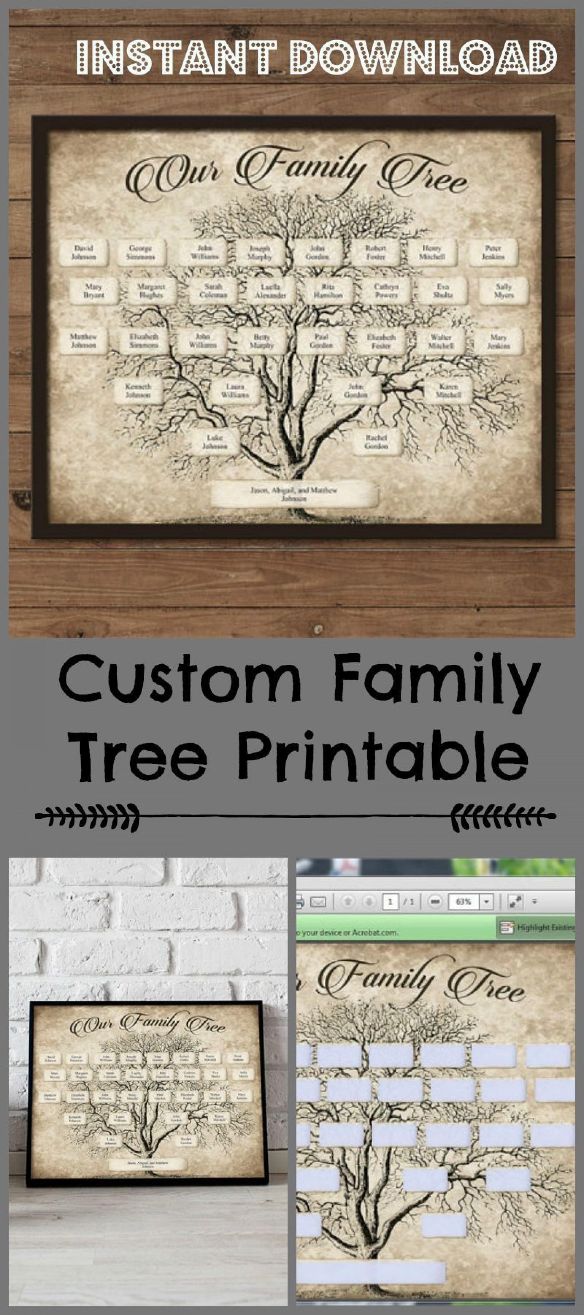 003 Stupendou Family Tree Book Template Sample  Photo Free1920