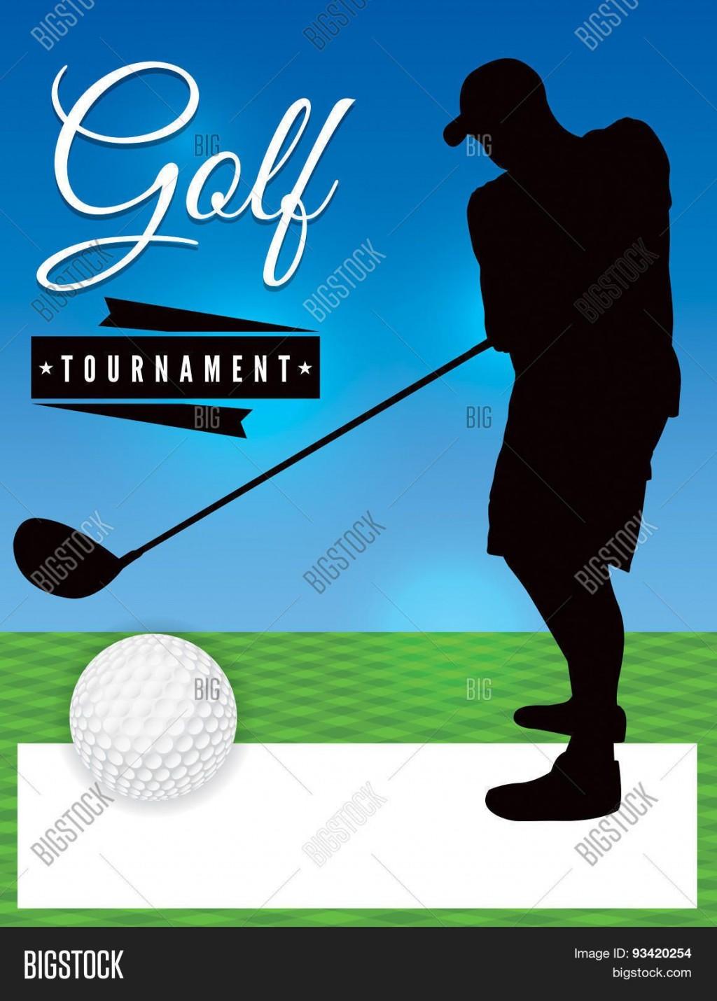 003 Stupendou Free Charity Golf Tournament Flyer Template Design Large