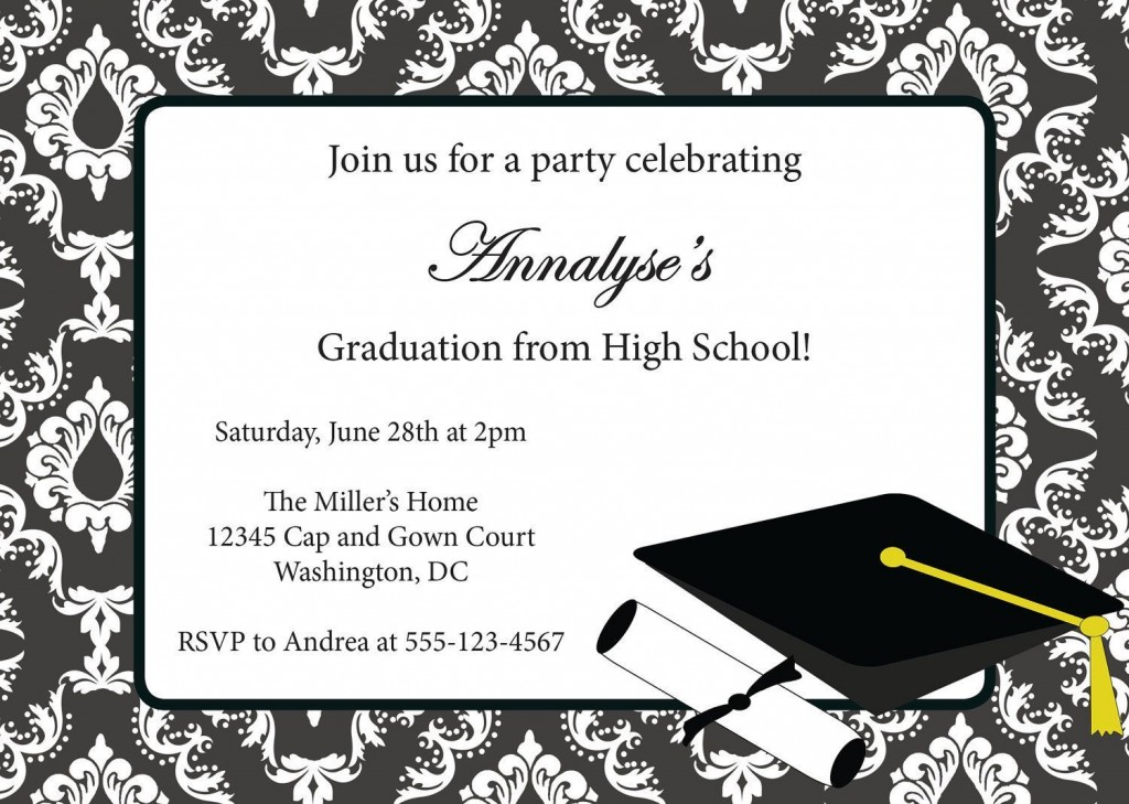 003 Stupendou Free Graduation Invitation Template Printable Picture  Party For Word PreschoolLarge