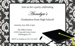 003 Stupendou Free Graduation Invitation Template Printable Picture  Party Card High School