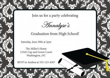 003 Stupendou Free Graduation Invitation Template Printable Picture  Kindergarten Party Card360