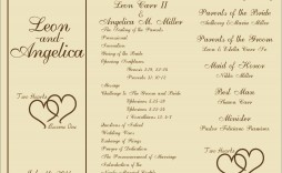 003 Stupendou Free Wedding Order Of Service Template Word Sample  Microsoft