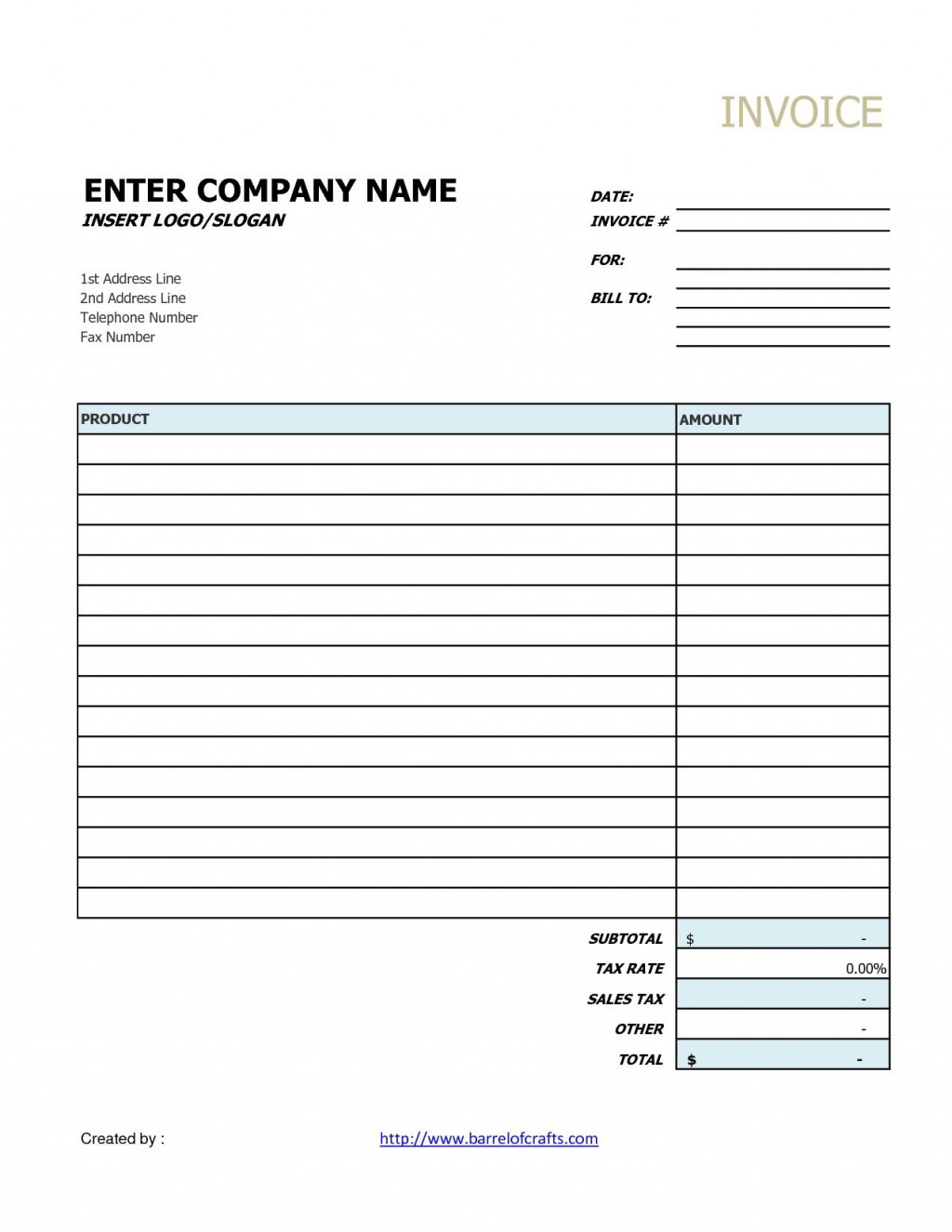 003 Stupendou Generic Service Invoice Template High Resolution Large
