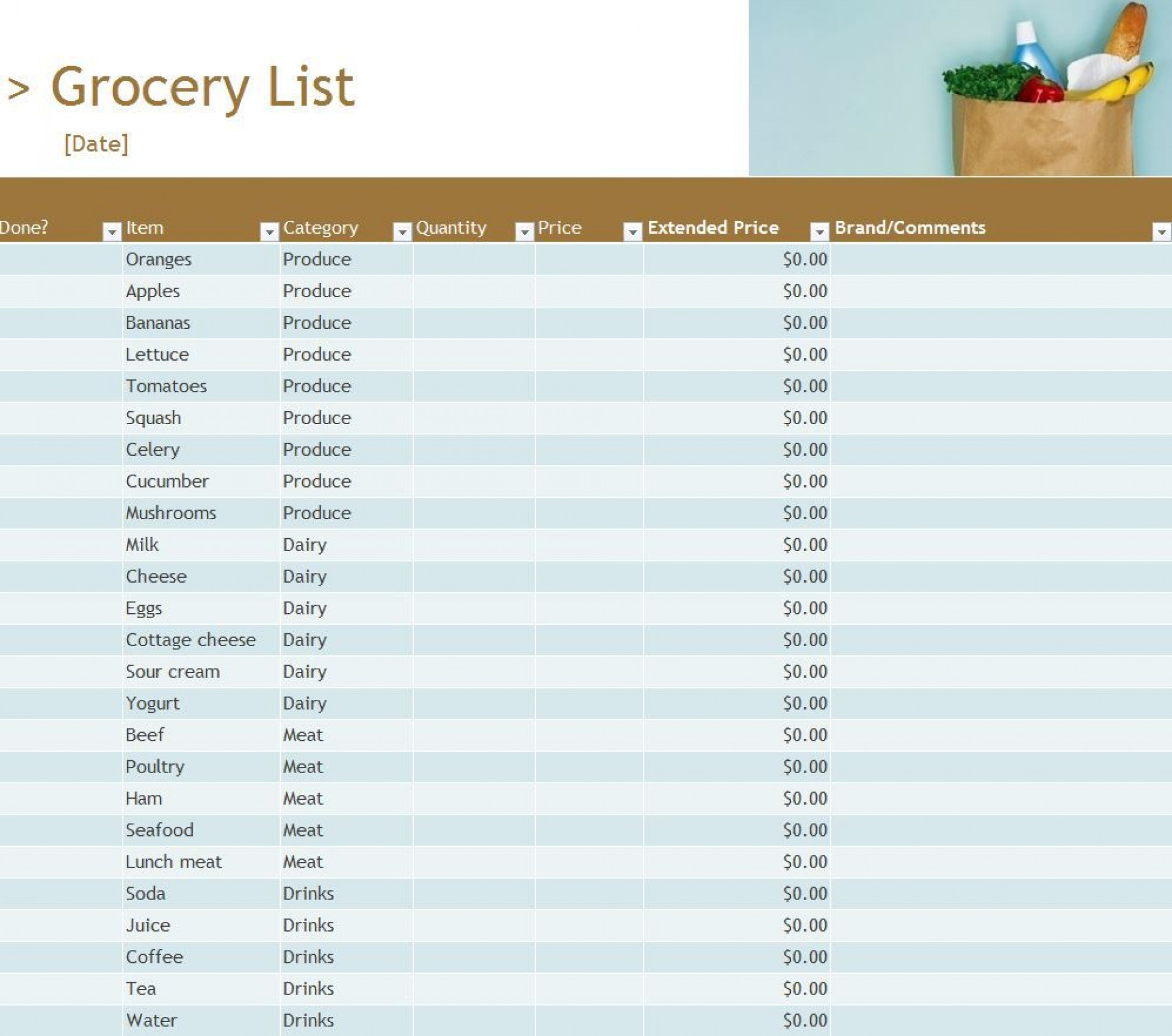 003 Stupendou Grocery List Template Excel Free Download High Resolution 1920