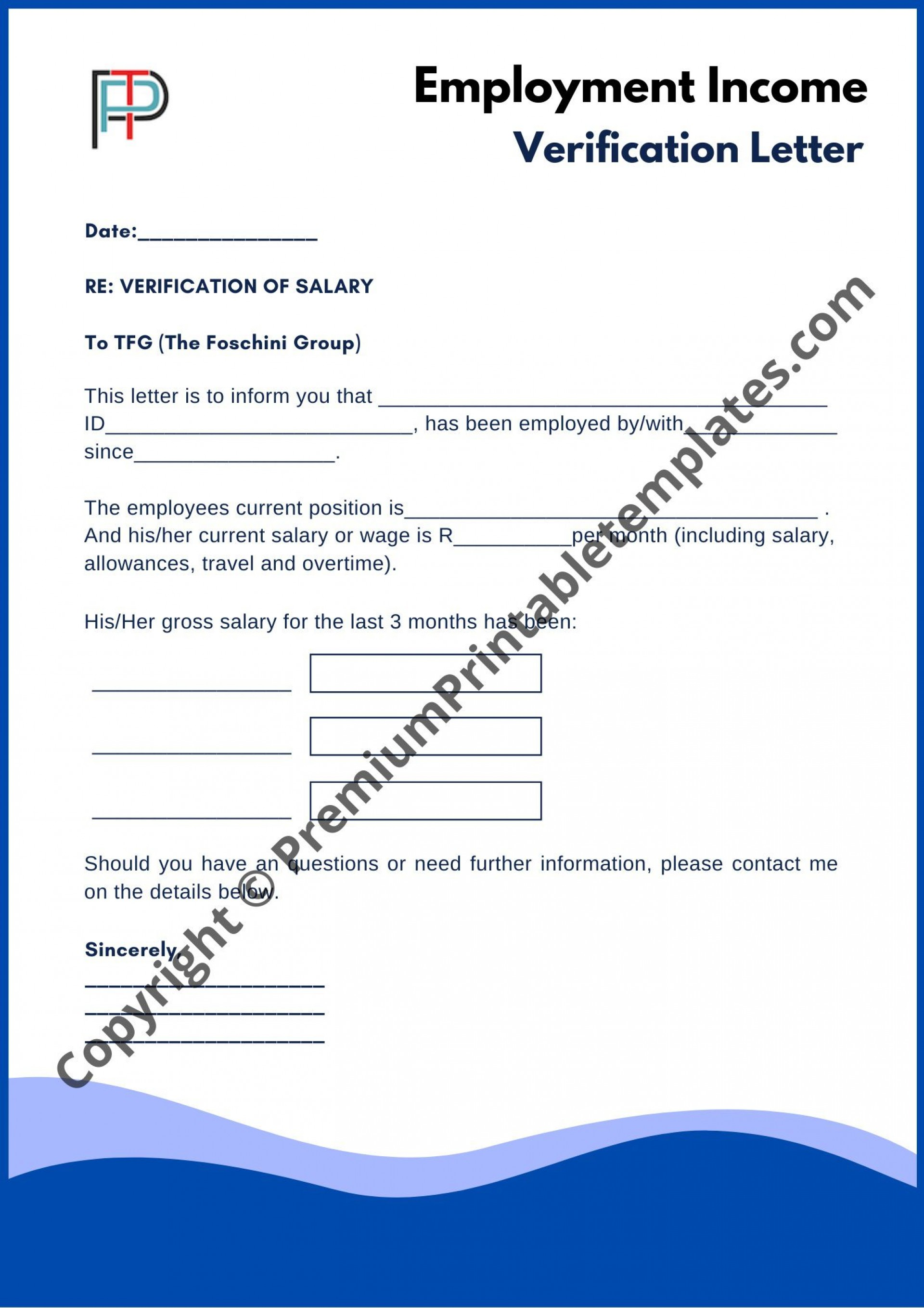 003 Stupendou Income Verification Letter Template Highest Clarity  Word From Employer Proof Of1920