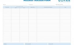 003 Stupendou Mileage Tracker Form Excel Sample