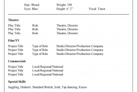 003 Stupendou Musical Theater Resume Template Word Photo  Theatre