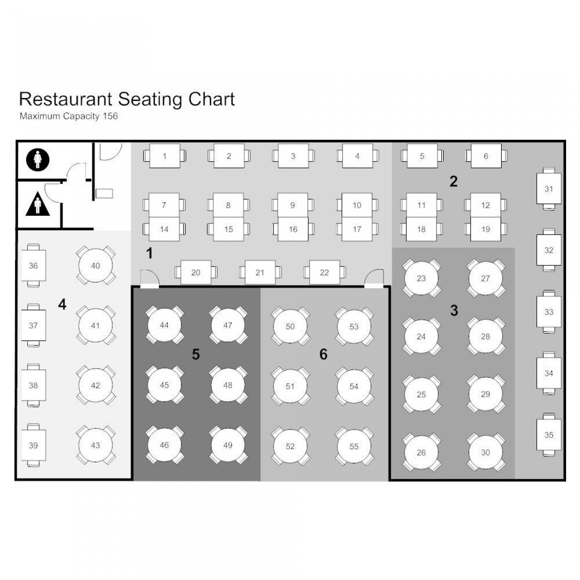 003 Stupendou Restaurant Seating Chart Template Highest Quality  Software Excel Word1920