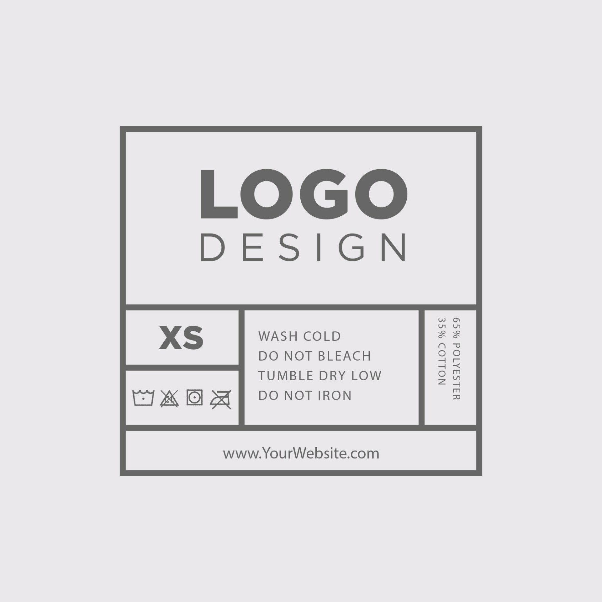 003 Stupendou T Shirt Tag Template Sample  Neck Label1920