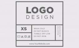 003 Stupendou T Shirt Tag Template Sample  Neck Label