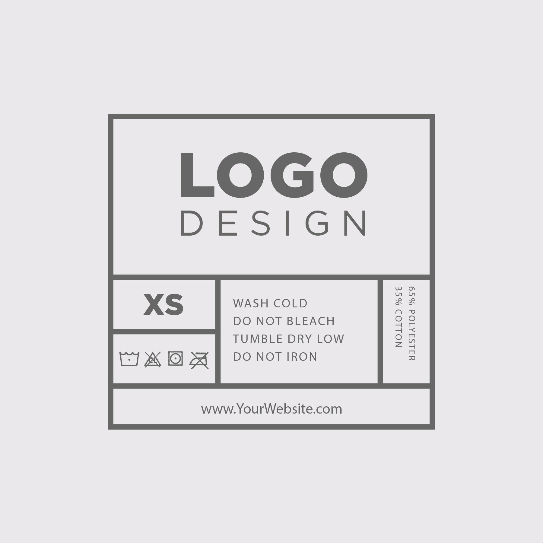 003 Stupendou T Shirt Tag Template Sample  Neck LabelFull