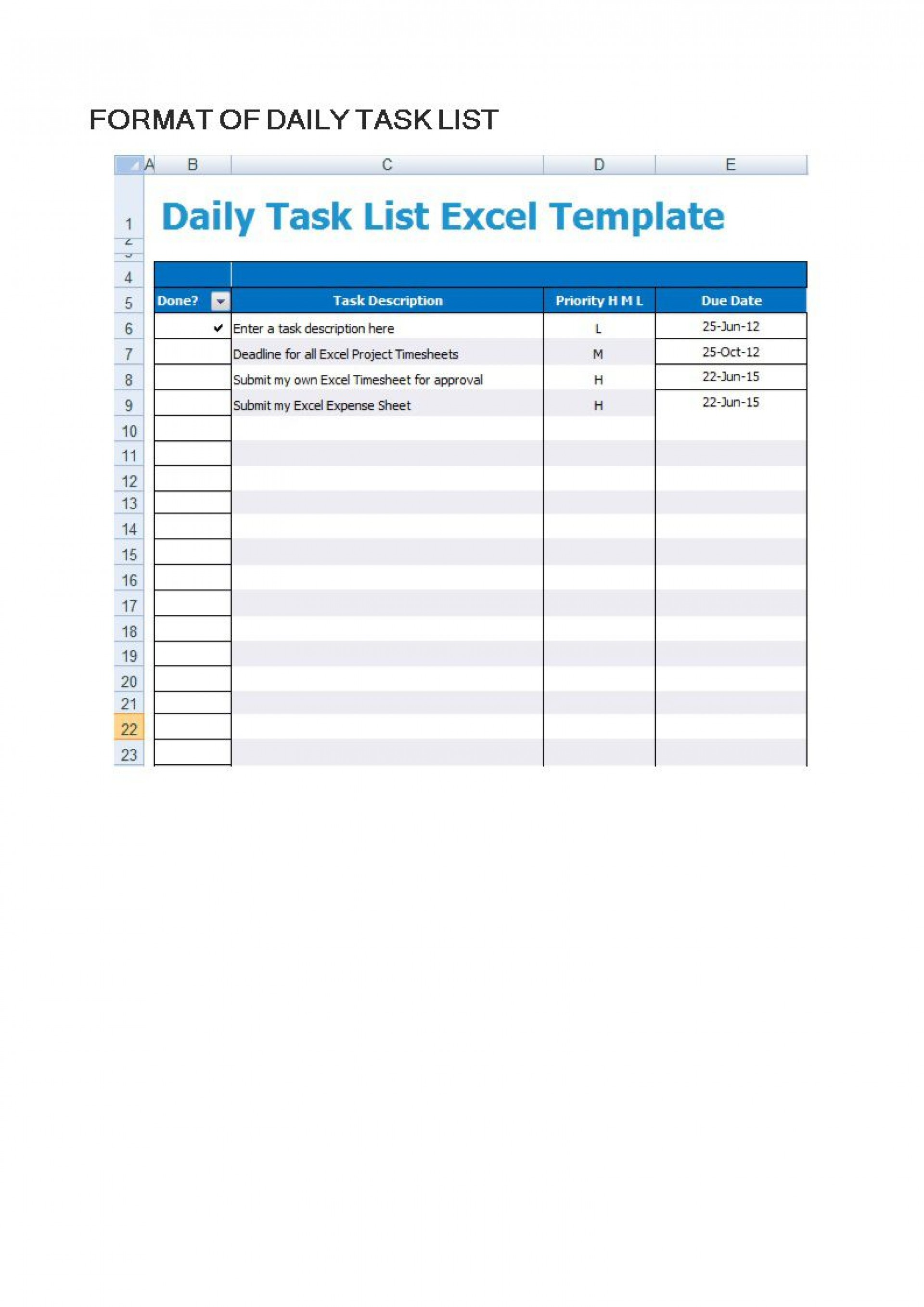 003 Surprising Daily Task List Template High Def  Excel Download To Do Free1920