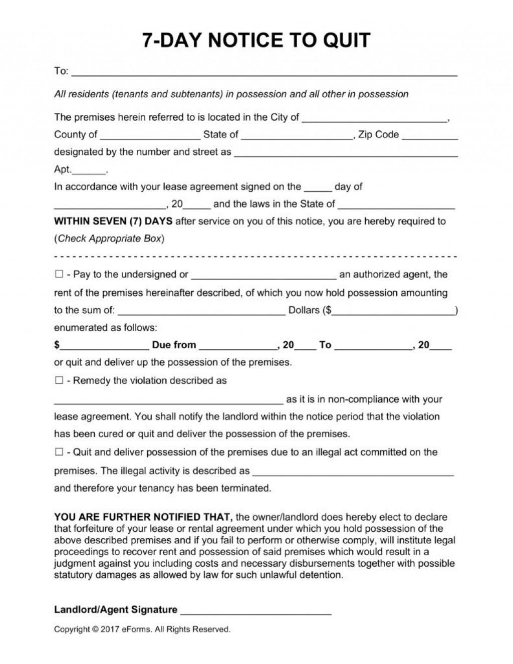 003 Surprising Eviction Notice Florida Template Image  15 Day Free PrintableLarge