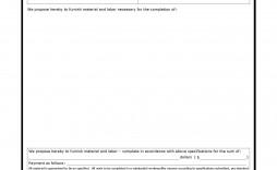 003 Surprising Free Bid Proposal Template Design  Printable Form Word Construction Download