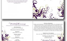 003 Surprising Free Downloadable Wedding Program Template Sample  Templates That Can Be Printed Printable Fall Reception