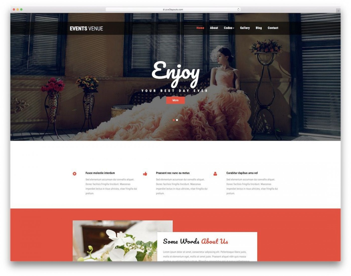 003 Surprising Free Event Planner Website Template High Resolution  Download Bootstrap1400