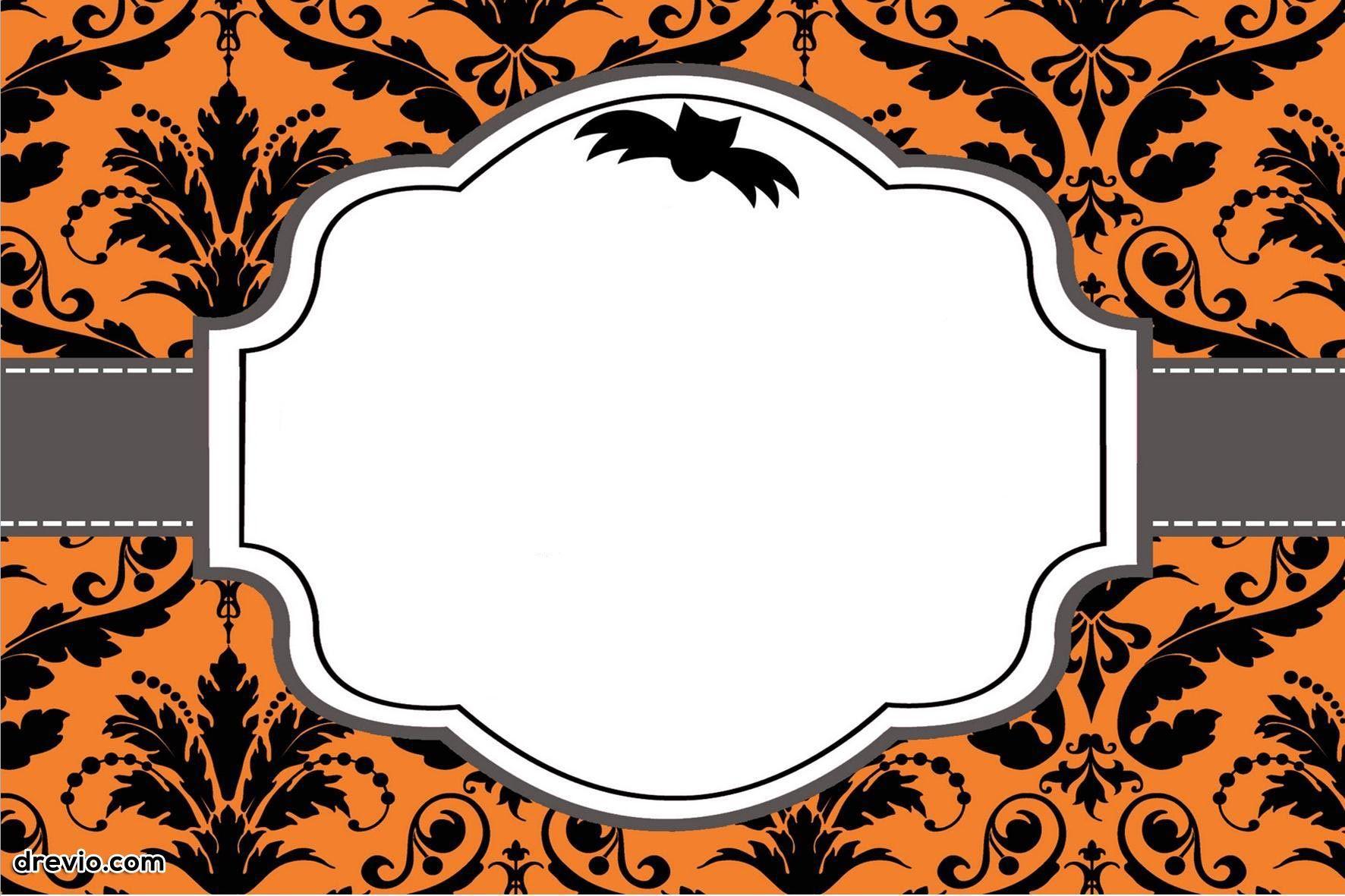 003 Surprising Free Halloween Invitation Template Design  Templates Online Printable Birthday Party WeddingFull