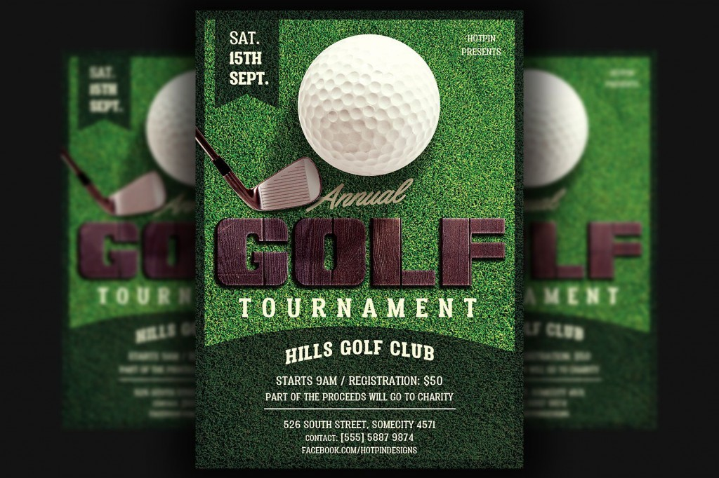 003 Surprising Golf Tournament Flyer Template Highest Quality  Word Free PdfLarge
