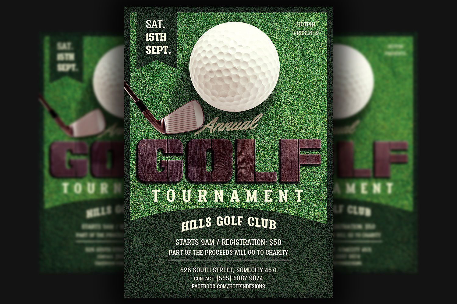 003 Surprising Golf Tournament Flyer Template Highest Quality  Word Free PdfFull