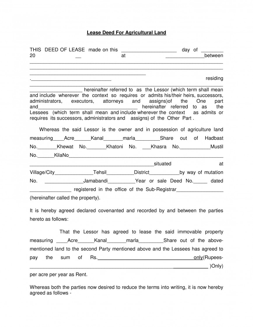 003 Surprising Land Lease Agreement Template Picture  Templates Free Nz Form Kenya Pdf Uk