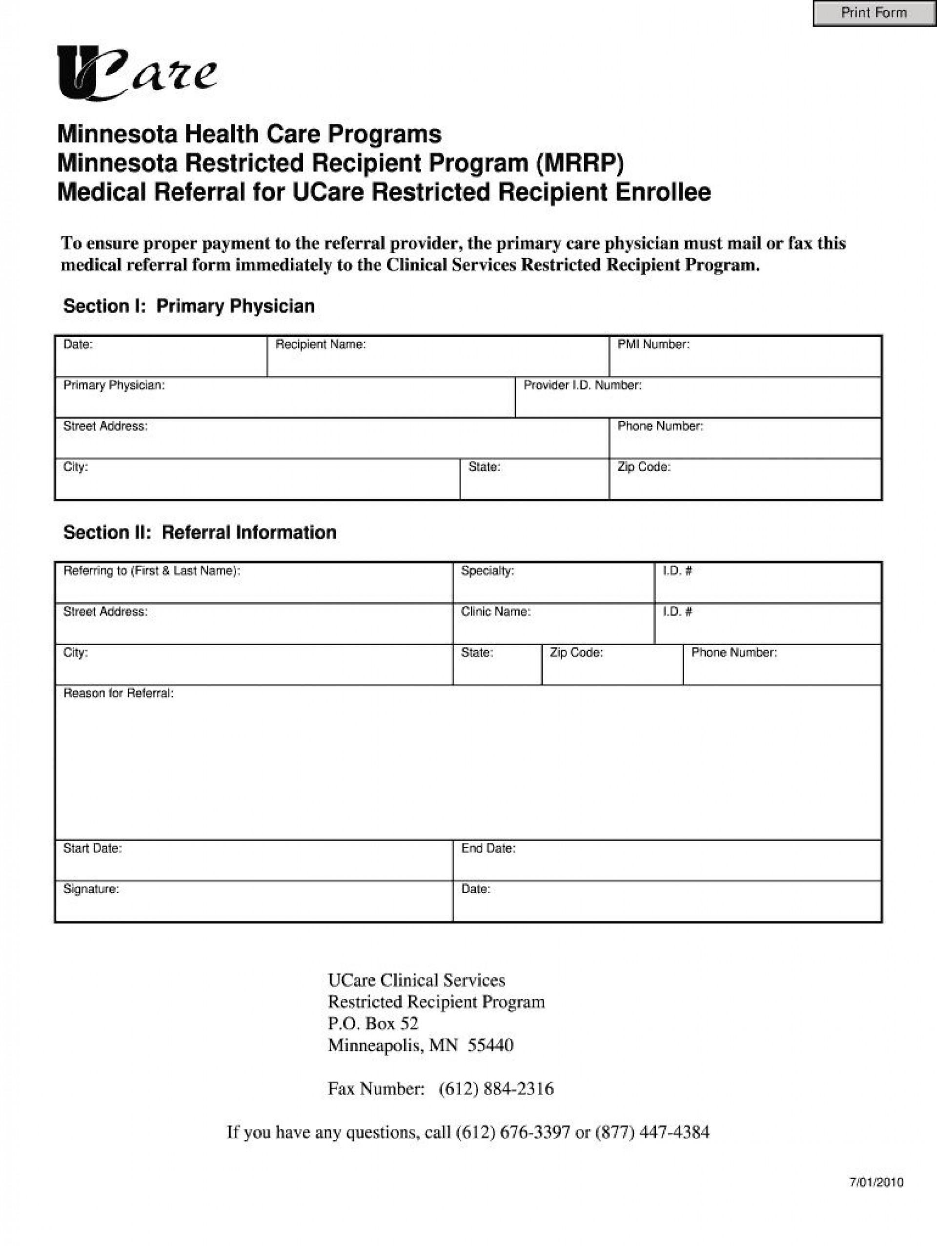 003 Surprising Medical Referral Form Template Highest Quality  Dental Patient Doctor Free Physician1920