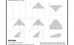 003 Surprising Printable Paper Airplane Pattern Inspiration  Patterns Free Instruction Pdf Design Template