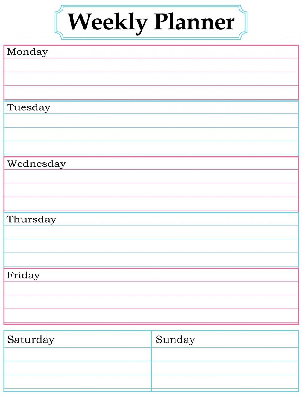 003 Surprising Printable Weekly Planner Template Cute Inspiration  Free CalendarLarge