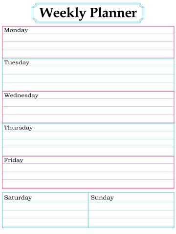 003 Surprising Printable Weekly Planner Template Cute Inspiration  Free Calendar360