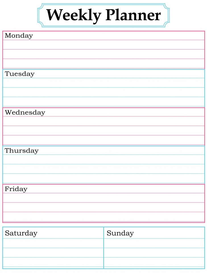 003 Surprising Printable Weekly Planner Template Cute Inspiration  Free Calendar728