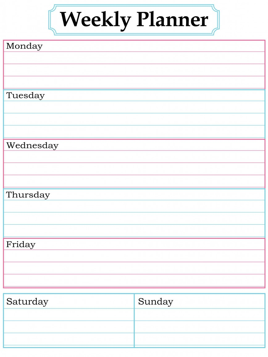 003 Surprising Printable Weekly Planner Template Cute Inspiration  Free Calendar868