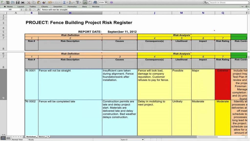 003 Surprising Project Risk Management Plan Template Excel Free Design Large