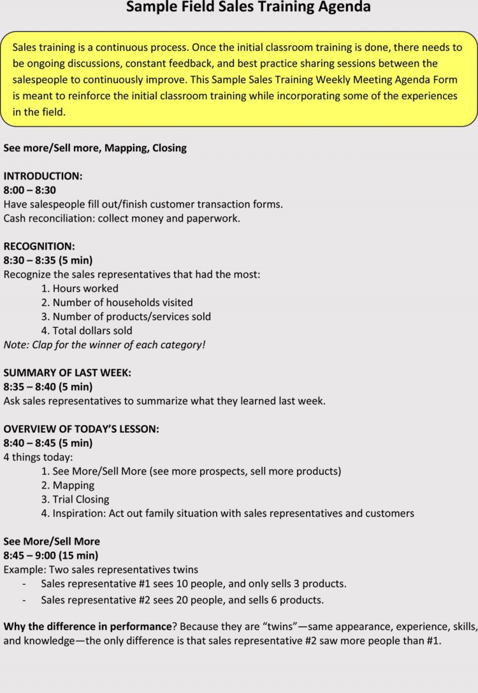 Sale Meeting Agenda Template Addictionary