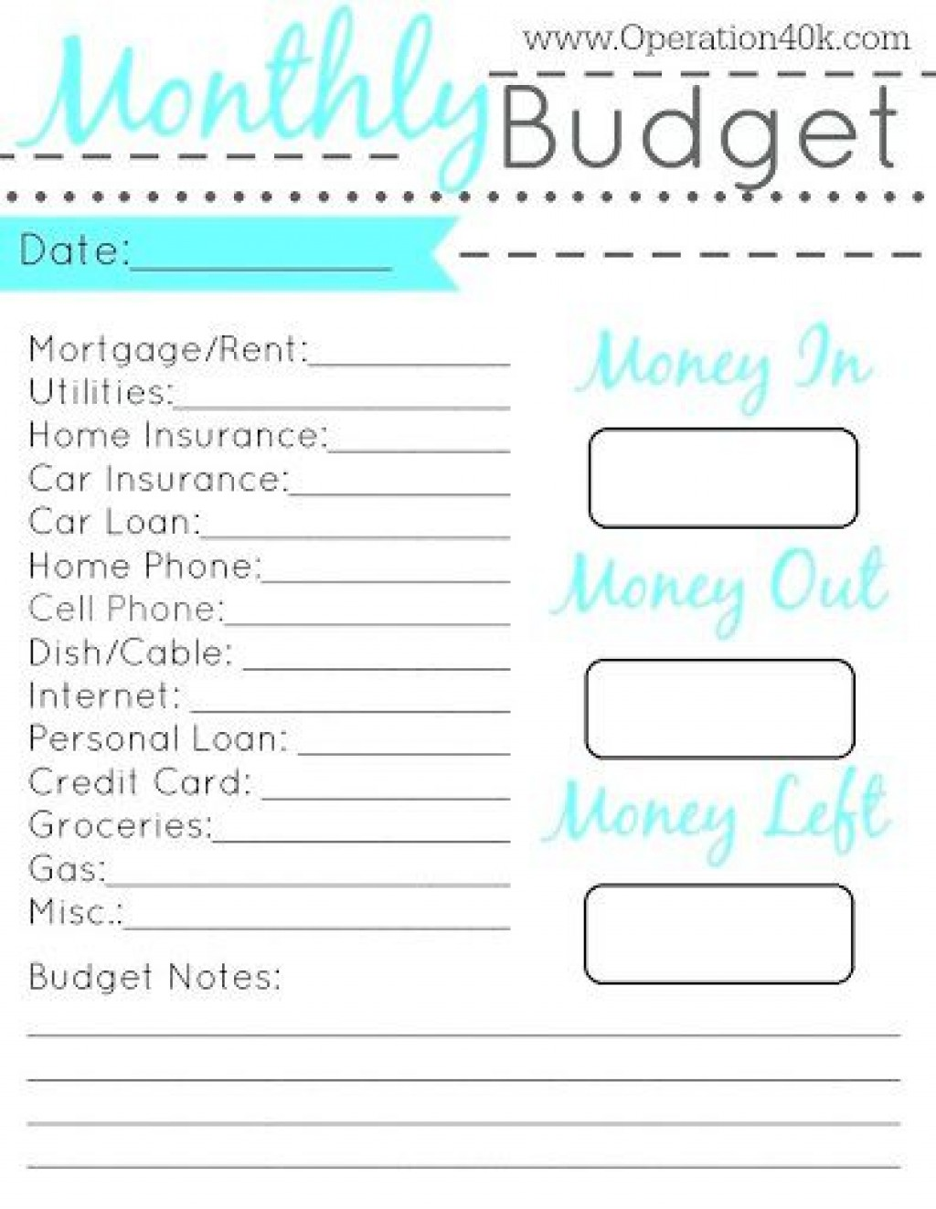 003 Surprising Simple Monthly Budget Template Free Printable Example Large