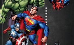 003 Surprising Superhero Birthday Invitation Template Free High Definition