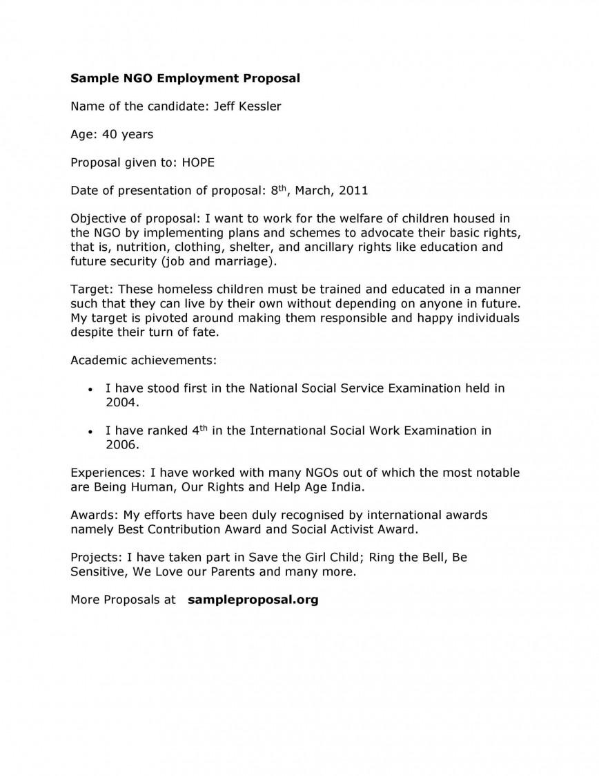 003 Surprising Writing A Job Proposal Template Sample Design 868