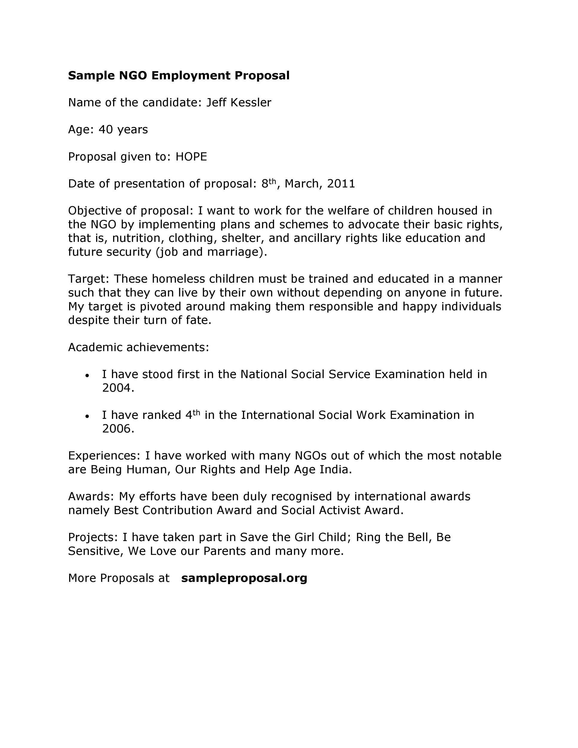 003 Surprising Writing A Job Proposal Template Sample Design Full
