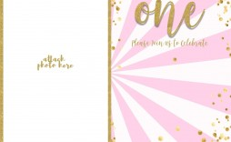 003 Top 1st Birthday Invitation Template Inspiration  Background Design Blank For Girl First Baby Boy Free Download Indian