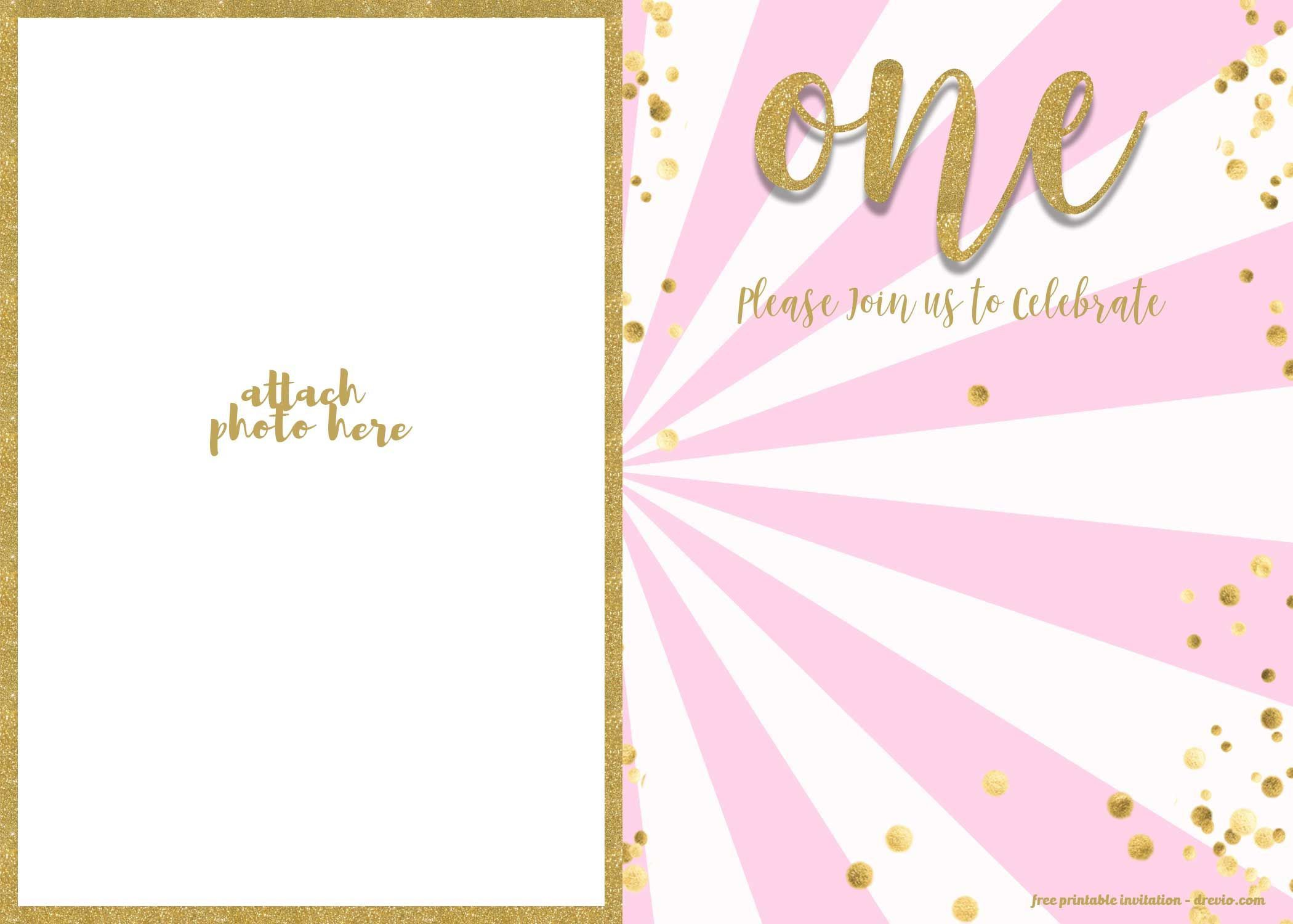 003 Top 1st Birthday Invitation Template Inspiration  Background Design Blank For Girl First Baby Boy Free Download IndianFull