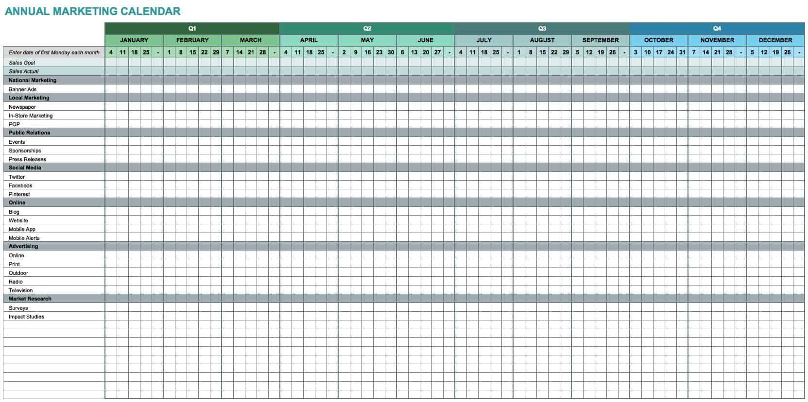 003 Top 52 Week Calendar Template Excel Picture  2020 2019 2021Full